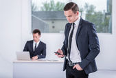 Businessmen working in the office — Stock Photo