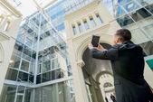 Zakenman foto's zakencentrum — Stockfoto