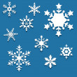 Set of snowflakes — Stock Vector #34753079