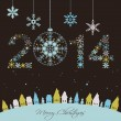 2014 New year card — Stock Vector #34753423