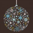 Stock Vector: Christmas balls background