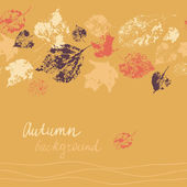 Horizontal seamless autumn background — Stock Vector
