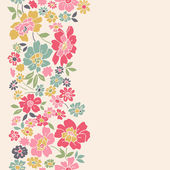 Vertical seamless floral background. — Stock Vector