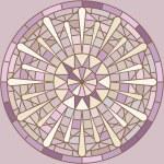 Mucha inspired round mosaic ornament — Stock Vector