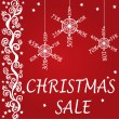 Christmas sale design — Stock Vector