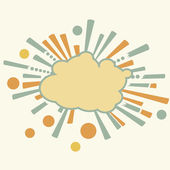 Burst and boom cloud in retro style — Stock Vector