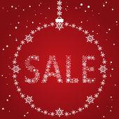 Christmas sale design — Vecteur