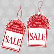 Christmas Sale Tags — Image vectorielle