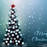 Christmas tree with bokeh lights — Stock Vector #37145873