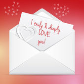 Love letter — Stockvector