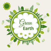 Green earth concept illustration — Stock Vector
