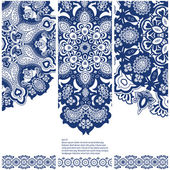 Set of banners with ethnic ornament — ストックベクタ