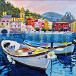 Stock Photo: Boats in Portofino