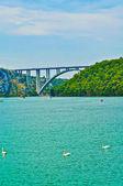 Krka bridge in Croatia — Foto Stock