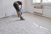 Leveling the floor leveled — Stock Photo