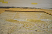 Reconstruction of an old wooden floor — Stock Photo