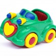 Stock Photo: Green toy car, tilted