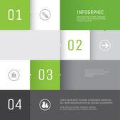 Infographics design Vector Template — Stock Vector