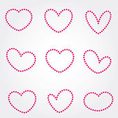 Hearts - Stock Vector — Stockvektor