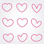 Hearts - Stock Vector — Stok Vektör
