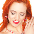 Redhead woman — Stock Photo #34691723