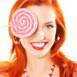 Stock Photo: Womwith lollipop