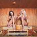 Kadınlar saunasında — Stok fotoğraf