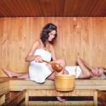 mujeres en sauna — Foto de Stock   #34693211