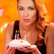 Girl with cake — Stock Photo #34693697