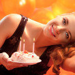 Girl with cake — Stock Photo #34693989