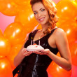 Girl with cake — Stock Photo