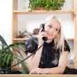 Talking on phone — Stock Photo