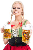 Oktoberfest waitress — Stock Photo