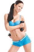 Fitness girl — Stock Photo