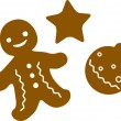 Vector Christmas Cookie Icon Symbol Set — Stock Vector