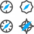 Vector Compass Icon Symbol Set — Stock Vector