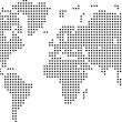 Vector Dotted World Map — Image vectorielle