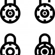 Vector Lock Set — Stock Vector