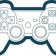 Vector Game Console Gamepad Icon Symbol — Stock Vector