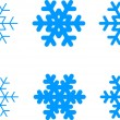 Vector Christmas Snowflakes Icon Symbol Set — Stock Vector