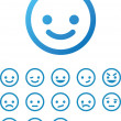 Vector Smile Icon Set — Stock Vector