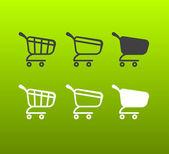 Vector Shopping Cart Icon Set — Stock Vector