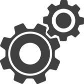 Vector Cog Settings Icon Symbol — Stock Vector
