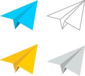 Vector Paper Plane Icon Symbol Set — Stock Vector