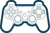 Vector Game Console Gamepad Icon Symbol — Vettoriale Stock