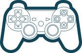 Vector Game Console Gamepad Icon Symbol — Stock Vector