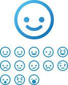 Vector Smile Icon Set — Stock Vector