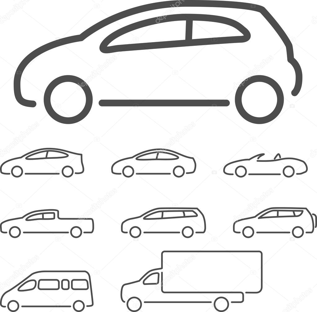 Car Vector Icon Vector Car Icon Set Vector