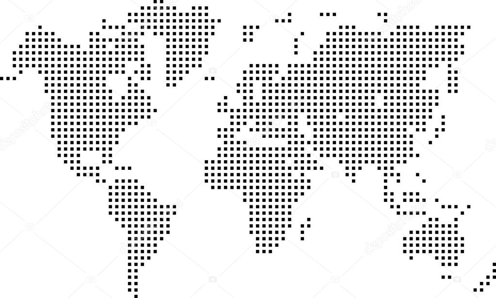 Dotted world map vector lektonfo dotted world map vector gumiabroncs Choice Image