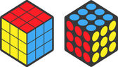 Cube puzzle with clipping path — Stock Vector